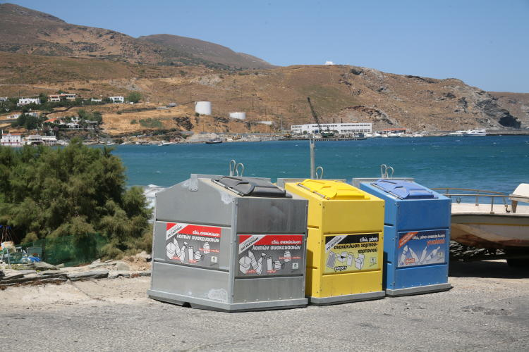 recycling in Andros island